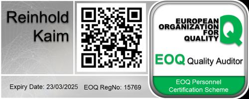 Reinhold Kaim - EOQ Quality Auditor